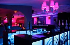 Atmosphere Lounge in Lisbon.  It's members only....but you can get on the list at radio-hotel.com.