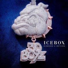 First Diamond & Gold Bulldog From Icebox!  Shop Now - www.icebox.com
