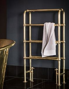 We have a beautiful range of solid brass heated towel rails, available in a range of luxurious finishes for your perfect, timeless bathroom. Towel Storage, Towel Racks, Bath Storage, Traditional Radiators, Bathroom Towel Rails, Timeless Bathroom, Bathroom Design Inspiration, Towel Warmer, Cleaning Painted Walls