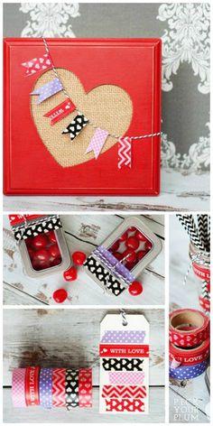 Valentine Washi Tape Ideas  Dekorella Shop http://dekorellashop.hu/ #dekortapasz #washitape #maskingtape