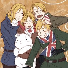 France, America, Canada, England! FACE Family! (Hetalia!)
