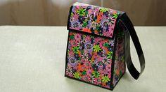 DIY Duct Tape Lunch Bag! YouTube Tutorial: https://youtu.be/5Zjvi-W434U  #DIY #Craft #DuctTape #Lunch #Bag #BackToSchool #BTS #School #Food #Flower