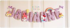 My Melody and Hello Kitty Felt Name Banner by CraftersBoutique