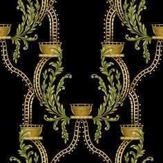 Textile Pattern Design, Baroque Pattern, Textile Patterns, Pattern Art, Print Patterns, Circle Pattern, Flowers Illustration, Border Embroidery Designs, Baroque Art