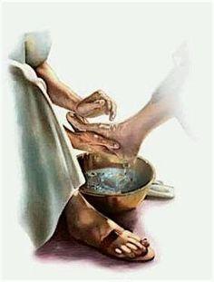 Anjo Nice: Jesus Lava os Pés dos Discípulos.