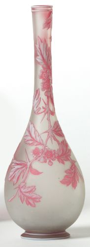Thomas Webb & Sons Cameo Glass Vase.