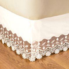 beautiful lace bedskirt