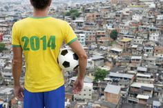 Brazil 2014 Football Player Standing With Soccer Ball Favela Rio Stock Image - Image of america, alemao: 36266559 Samba, Brazil World Cup, Football Players, Soccer Ball, Personal Style, Polo Ralph Lauren, American, Mens Tops, Photography