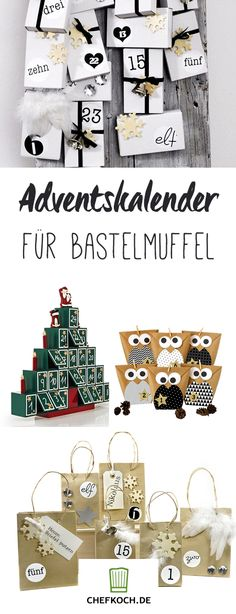 12 hübsche Adventskalender für Bastelmuffel