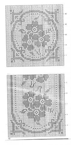 Crochet Lace Edging, Thread Crochet, Crochet Doilies, Crochet Stitches, Crochet Designs, Crochet Patterns, Filet Crochet Charts, Fillet Crochet, Shirt Embroidery