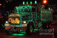 "Trucks with Christmas lights   | Visit ""Believe in the Magic of Christmas"" on Pinterest"