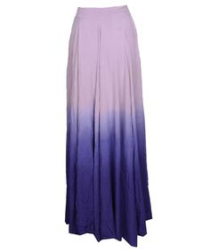 Purple Gradient Color Plain Irregular Pleated Sheer Chiffon Lined Blue Ombre Dip Dye Gradient Flowy Maxi Skirt Pleated Skirt, Dress Skirt, High Waisted Skirt, 50s Dresses, Short Dresses, Long Skirts, Gypsy Style, My Style, Sheer Chiffon