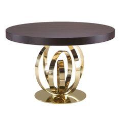 Furniture - Dining Room Tables - Brass - Wood - Contemporary - Elise Som Design Studio