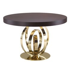 Furniture - Dining Room Tables - Brass - Wood - Contemporary - Elise Som Design Studio