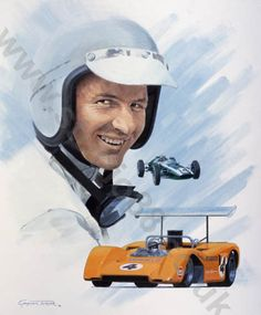 Bruce McLaren by Graham Turner