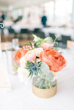 Pantone's Colour of the Year for Living Coral is a perfect shade for weddings. Take a look at these Living Coral wedding ideas and fall in love with this beautiful shade. Coral Centerpieces, Coral Wedding Decorations, Wedding Table Centerpieces, Wedding Colors, Coral Wedding Flowers, Coral Weddings, Boquette Wedding, Centerpiece Flowers, Wedding Mandap