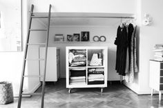 """small space storage solution - I literally said this out loud: """"oh my god, so smart""""."""