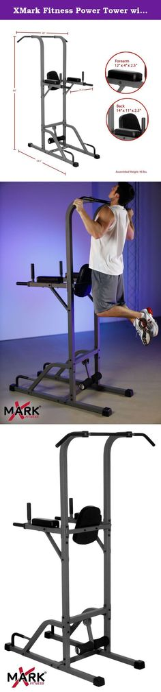 XMark Fitness Power Tower with Pull-up Station XM-4432. XMark Power Tower with Pull-up Station XM-4432 The XMark Power Tower will provide defined abs, stronger arms, a well-developed chest, and a strong back. The chin-up/pull-up bar works the arms and bac
