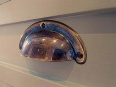 antique brass cup-handle