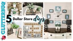 5 Dollar Store DIY Ideas (that you actually want in your home) - YouTube Diy Clock, Family Wall, Diy Ideas, Craft Ideas, Decor Ideas, Diy Wall, Dollar Stores, Easy Diy, Dyi
