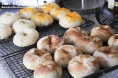 homemade bagels // last night's dinner
