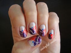 crackle polish nail art