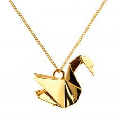 Necklace Swan Origami Jewellery..this makes me think of my Aunt Jessie, she always got us Origami sets every year! #winboticca