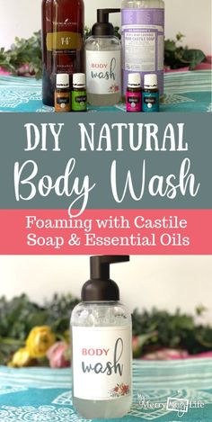 DIY Natural Foaming Body Wash with Castile Soap, Oil, and Essential Oils - Moisturizing and Gentle via Diy Body Wash, Homemade Body Wash, Natural Body Wash, Essential Oils Soap, Young Living Essential Oils, Castile Soap Recipes, Body Soap, Chair Design, Furniture Design