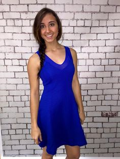 Wake Up Missing You Dress - Blue