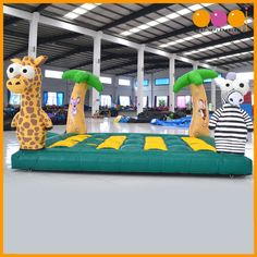 AQ03140 (4*5*0.3m / 13.12'*16.40'*0.98')  AOQI exclusive original safari mole attack,  AOQI novel design inflatable games will bring you different feelings in this summer.