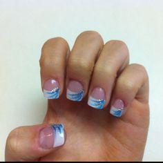 Elegant And Stylish Nails Art 2014 French Tip Nail Designs, Gel Nail Art Designs, French Tip Nails, Stylish Nails, Trendy Nails, Cute Nails, Aqua Nails, Gel Nails, Acrylic Nails
