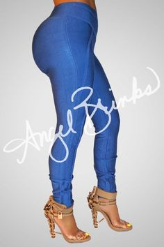 Blue Bandage Leggings | Shop Angel Brinks on Angel Brinks