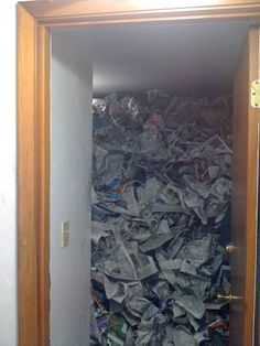 The roommate who somehow found this much newspaper: