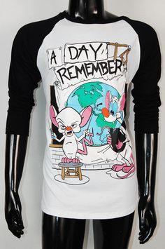 A Day To Remember ADTR Pinky Men Base Ball Long Sleeve T-Shirt S, M, L. $22.99, via Etsy.