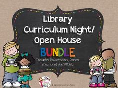 FINALLY! A Parent Library Curriculum Night/Open House Product for School Librarians/ Library Media Specialists! $