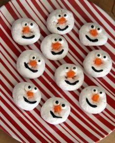 A Fun Snack For All Ages – Snowman Doughnuts