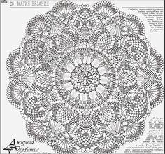 crochet mandala pattern a crochet pattern charm with free graphics - CROCHET Col Crochet, Crochet Blanket Edging, Crochet Doily Diagram, Crochet Carpet, Crochet Rug Patterns, Crochet Mandala Pattern, Crochet Circles, Crochet Home, Crochet Doilies