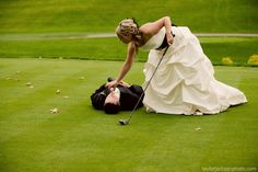 Great golf shot for wedding photography.