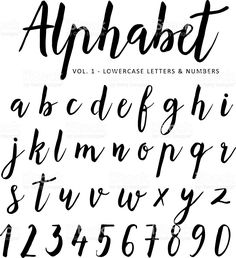 Hand drawn vector alphabet. Script font. Brush font. Isolated letters. royalty-free stock vector art