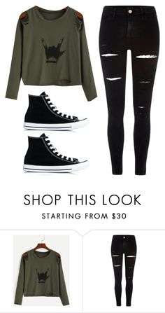 """Untitled #303"" by luka1207 ❤ liked on Polyvore featuring River Island and Converse"