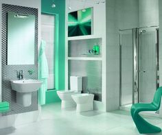 green bathrooms designs and bathroom tiles