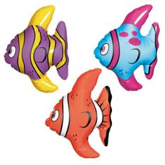 3 Inflatable Blow up FISH Hawaiian inflatable Mini fish | eBay £3 ebay