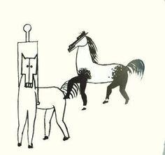 Dessin exploratoire pour la construction du cheval dans Parade 1917