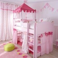 Think this is the only way that we can fit a princess castle bed in the space available