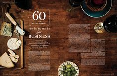 magazine layout, opening spread