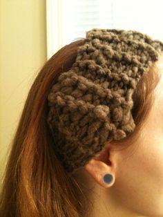 Funky Headband made from my handspun wool