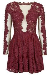 **Embellished Applique Lace Dress by Opulence by TopShop