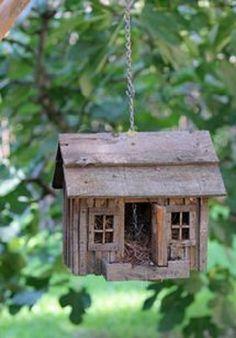 little house for birds Bird Houses Diy, Fairy Houses, Cob Houses, Bird House Feeder, Bird Feeders, Bird Boxes, Little Houses, Garden Art, Garden Design