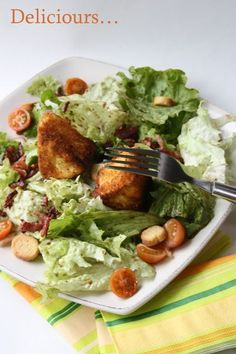 Deliciours...: Salade au camembert pané