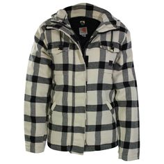 I think someone got this for christmas!  Carhartt Women's Checkered Camden Wool Parka